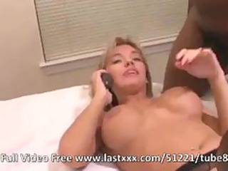 Sexy blonde wife interracial amateur threesome