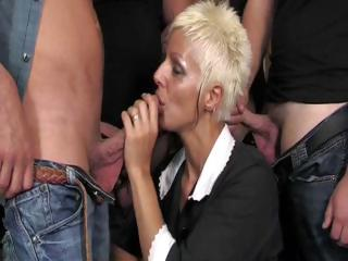 Hot Mature Claudia Dei Gangbang