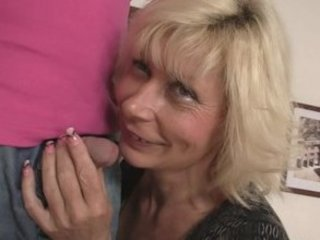 Blonde mom seduces her son in law