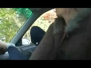 Mother Id Like To Fuck Giving Footjob in Car by