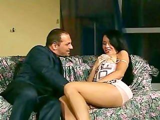 Hot ass milf brunette in high heels gets her