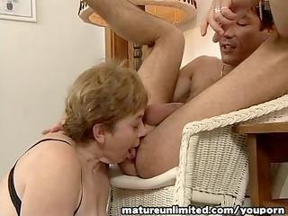 Moms is balls Licking deepthroat