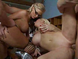 Bisexual MILF Whores Have A Group Sex Party