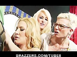 Bigtit blonde MILF Jennifer Best sucks dick on a