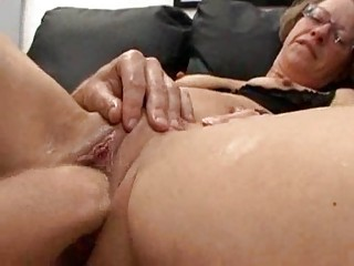 Pussy fucking and fisting with anal hard
