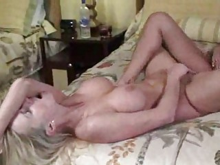 PJ PARTY WITH A DOUBLE DONG  AMATEUR LESBIAN WIFE