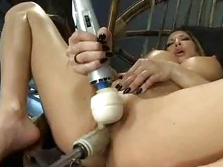 Big Hooters Blonde Milf Fucking Machines And