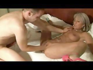 Mature blonde German gal gets fisted then drilled