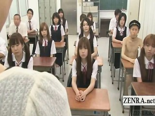 Subtitled CFNM Japan nudist student milf teacher