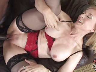 Milf Nina Hartley fuck black cock and get facial