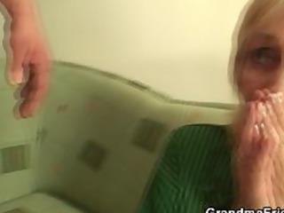 Granny fucked by football fans
