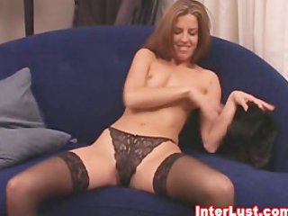 Hot Wife In Sexy Lingerie And Stockings