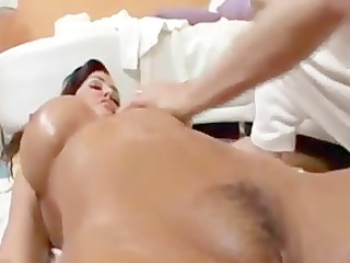 Lisa Ann gets a massage