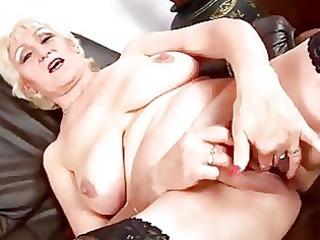 Mature Janka masturbates solo