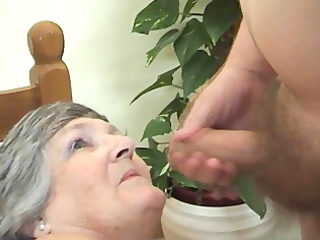 75 years old Greedy Grandma Libby 3some