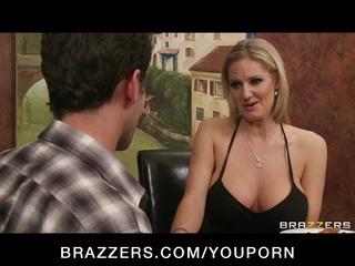 Big-boobed blonde MILF Zoe Holiday fucks her