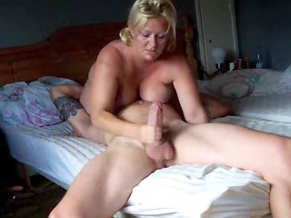 Golden-Haired Big Tited Wife Rocked