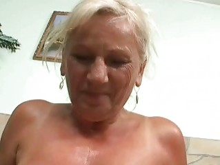 Naughty busty granny in hard POV action