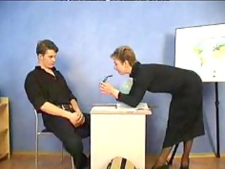 Russian Granny Teacher And Her Student mature