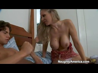 Bitchy Sexy Momma Julia Ann Deliciously Fills Her