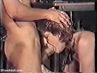 Classic German scene- mature giving blowjob and