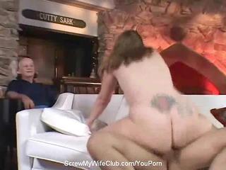 Chubby Swinger Wife Screws Stranger
