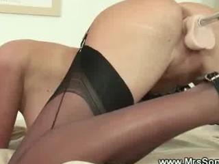 MILF loves her fuck machine