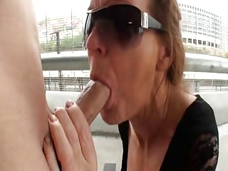 German Gran loves Cum