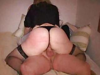 Big butt blonde MILF fucks in sex swing