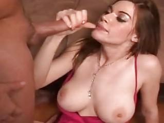 Horny milf Roxetta throat fucked with long