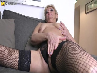 Nasty granny dreaming of youthful dong