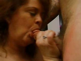 Fat mature redhead sucks big cock